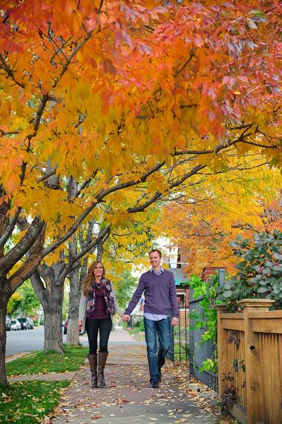 Dan & Brittney's Colorful Fall Photo Shoot<br /> Denver, Colorado