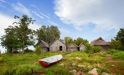 Altja boathouses