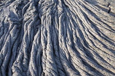 Effets de corde sur le basalte