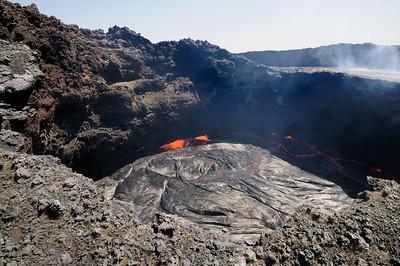 Cratère de lave