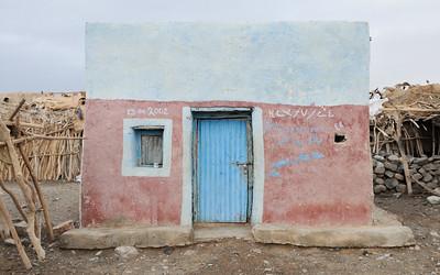 Façade de maison d'Afar du village d'Ahmed-Ela
