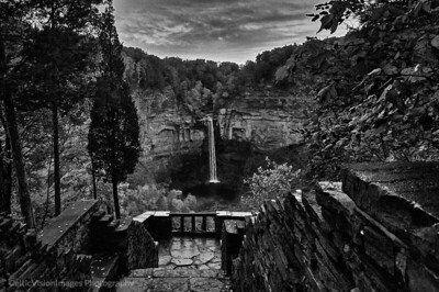 2009 __New York City_Taughannock Overlook Fall 2008 B&W