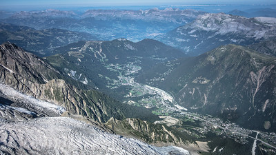 "Chamonix valley seen from ""l'Aiguille du Midi"""
