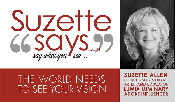 SuzSez BIZ CARD front