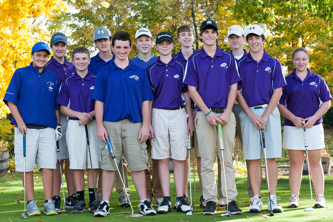 Oct. 2014- Golf team photo for Holyoke High.