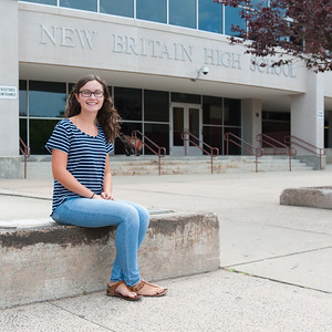 Senior Margaret Keithline (17) discussing the upcoming school year. (Ray Shaw Special to the Herald)