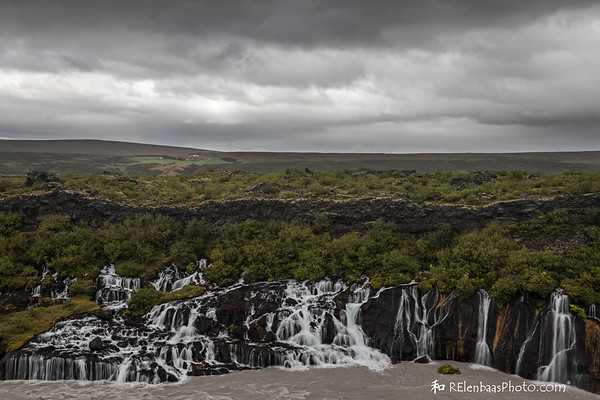 Storm Clouds Over Hraunfossar