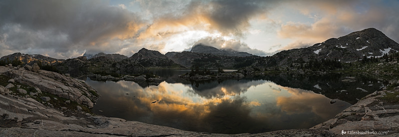 Island Lake Sunrise Panorama II