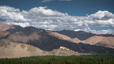 Monastery seen from Shey monastery