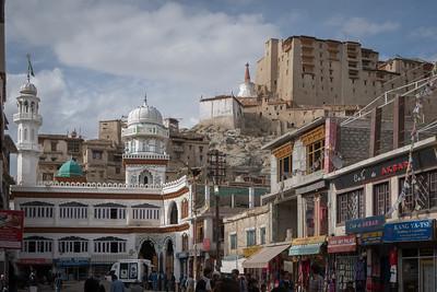 Leh's streets - Jama Masjid mosque