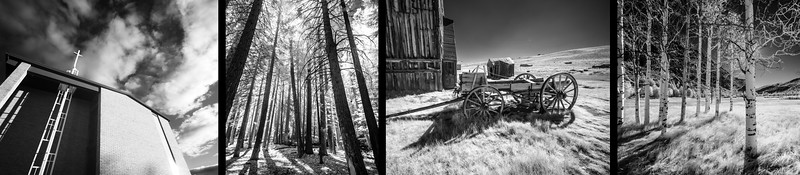 INTENSE INFRARED: DETROIT, EASTERN SIERRAS & BODIE GHOST TOWN