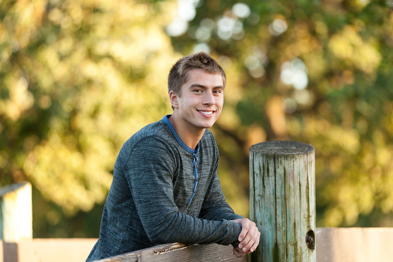 Senior Photography, Gage, Oak Grove Park, Northern California