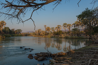 Kunene river, border between Namibia and Angola