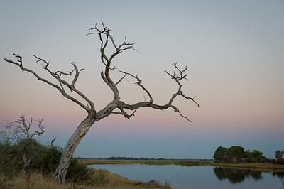 """Sunset, Coucher de soleil - Location 17°53'41"""" S 23°17'31"""" E"""