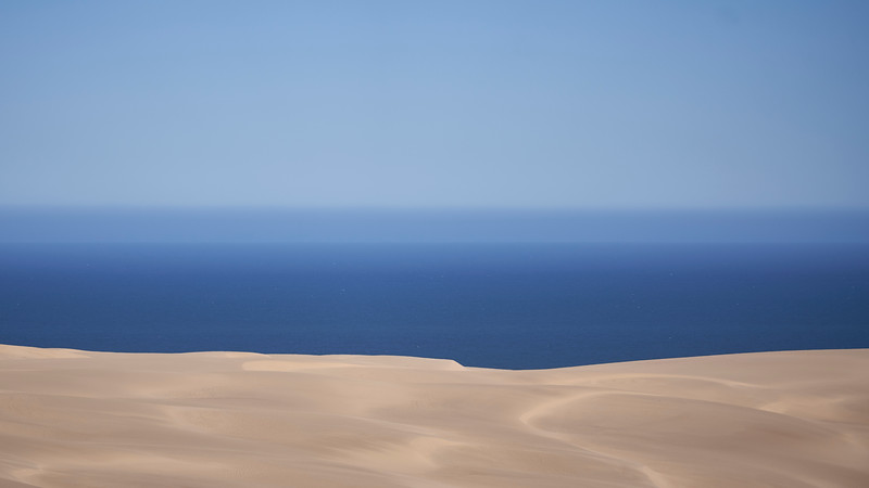 Dunes and the ocean