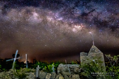 Milky Way Rising Over Terlinqua, TX Cemetery