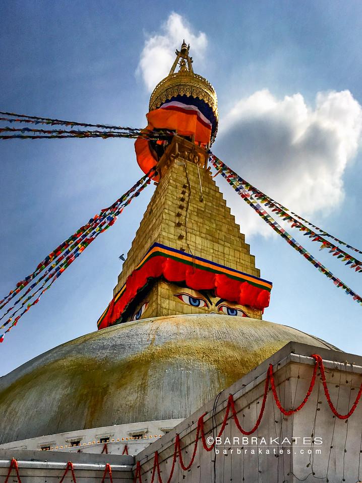 Boudhanath Stupa, 13 steps to Enlightenment, Kathmandu, Nepal