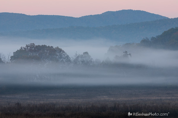 Pink Sky...Morning Fog