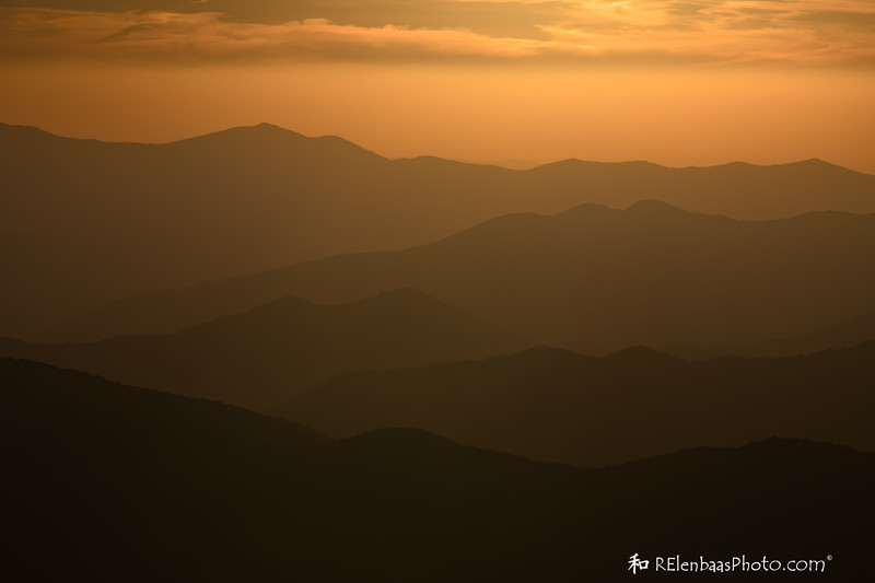 Golden Skies and Silhouette Hills