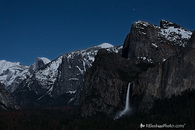 Tunnel View by Moonlight