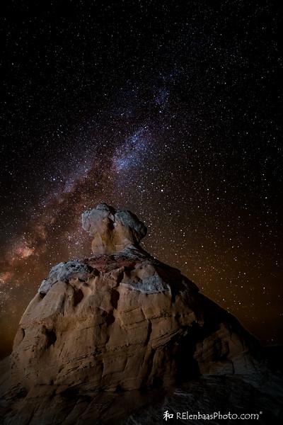 Milky Way Over White Pocket
