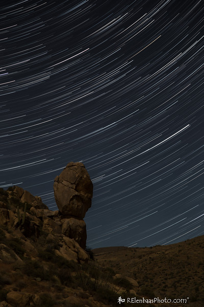 Star Trails Over Sears Kay Indian Ruins