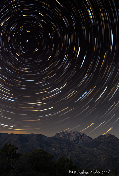 Star Trails Over Cochise Head