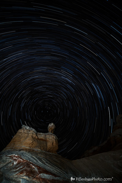 Star Trails Over White Pocket