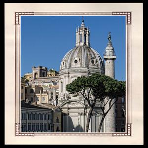 Colonne de Trajan et église Santissimo Nome di Maria