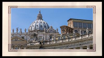 Partie de la Basilique St Pierre de Rome
