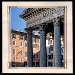 Partie du fronton du Panthéon de Rome