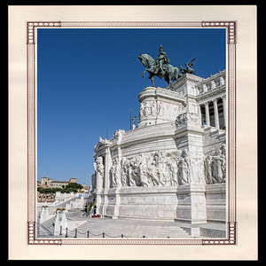 Partie du monument à Victor Emmanuel II