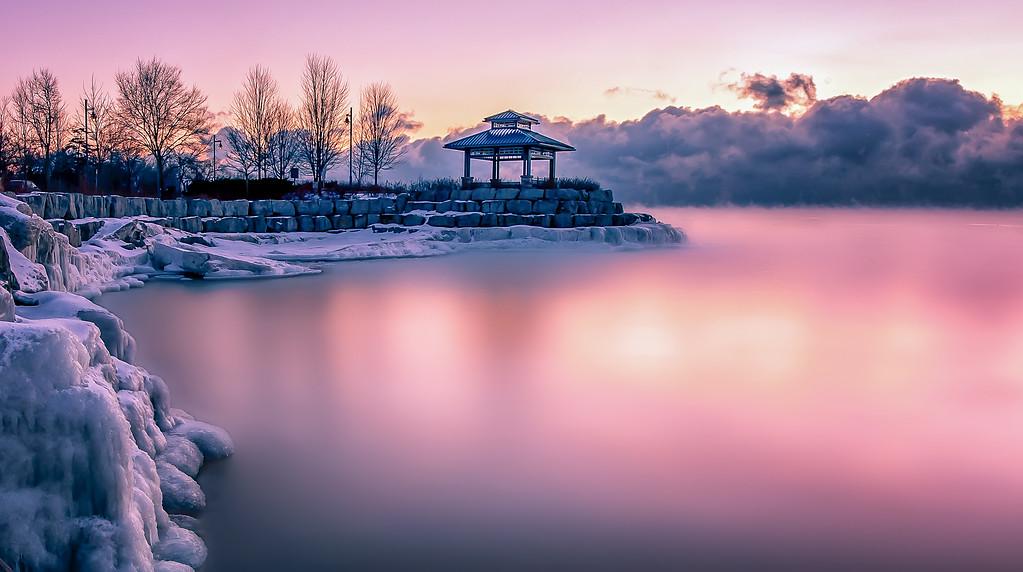 ARCTIC FOG SUNRISE