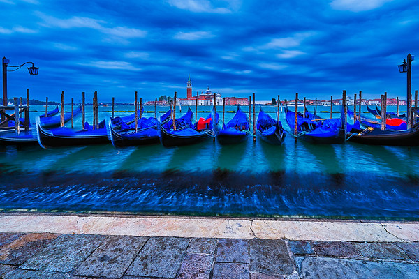 Riva degli Schiavoni water front in Venice.