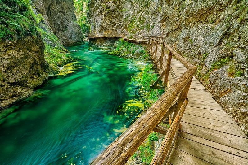 Vintogar Gorge Trail in Slovenian Alps