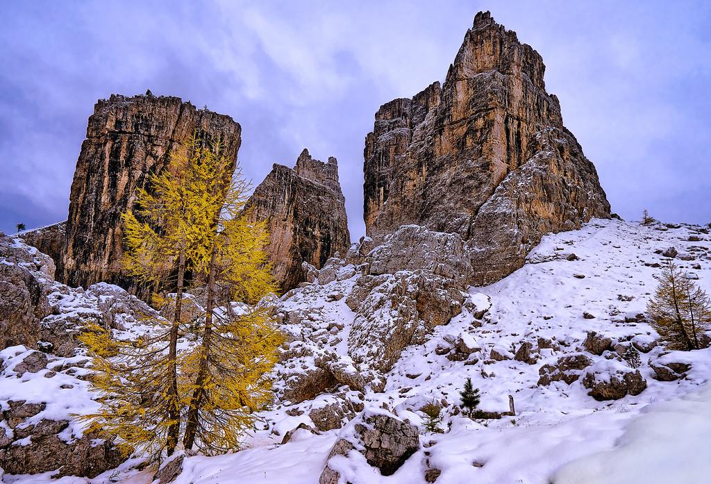 Cinque Torri in Dolomites