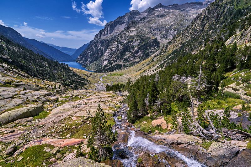 National Park Aiguestortes overlook.