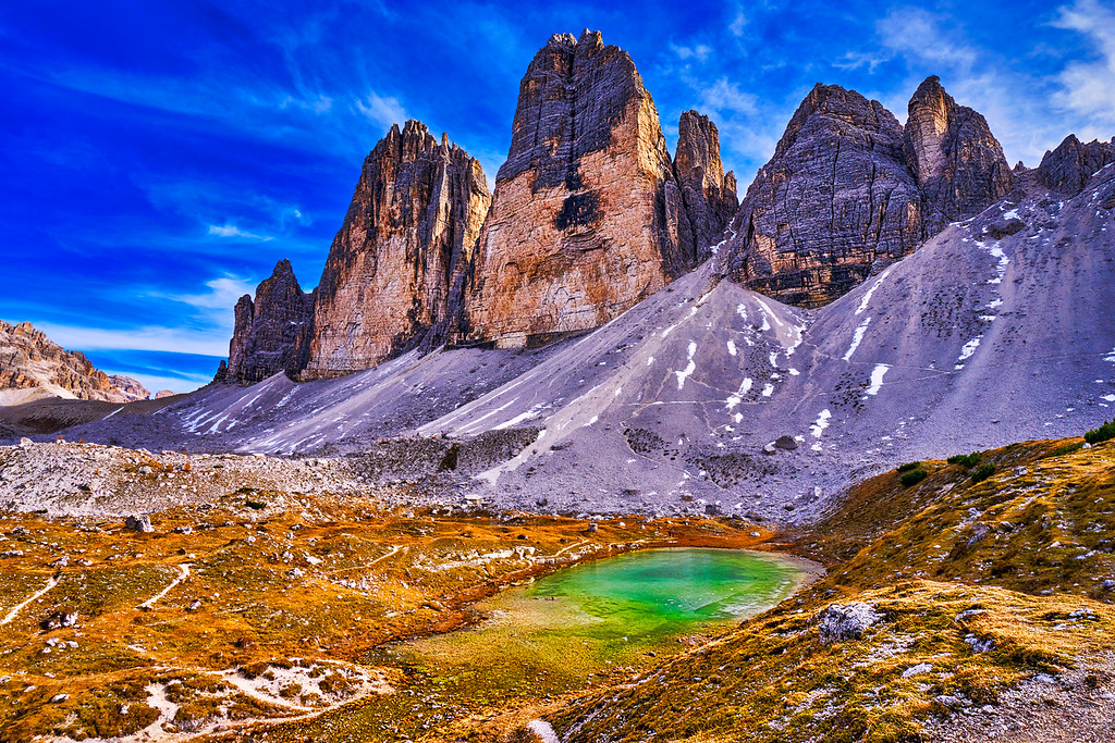 The Tre Cime di Lavaredo, Dolomites, Italy