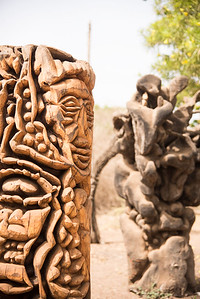 Senegalese statues on the Island of Goree