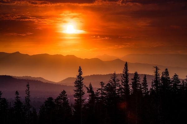 Sunrise over Mammoth Lakes, CA