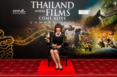 Princess Ubolratana Rajakanya Sirivadhana Barnavadi of Thailand poses for a picture as she attends The 2013 Cannes Film Festival at The Majestic Barriere, Cannes, France.