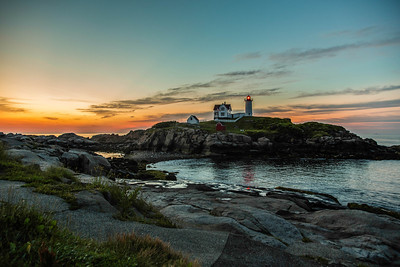 The lighthouse at Nubble Point, York, Maine, July 20, 2013