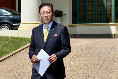 North Korea's ambassador to Malaysia, Kang Chol