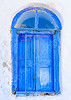 Beautifull blue colored wooden window in a house in Langada a vilage of Amorgos island in Greece