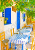 Traditional restaurant in Langada a vilage of Amorgos island in Greece