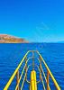sea view when sailing between dodecanese islands in Greece
