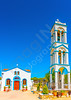 old church with belltower at Pserimos island in Greece