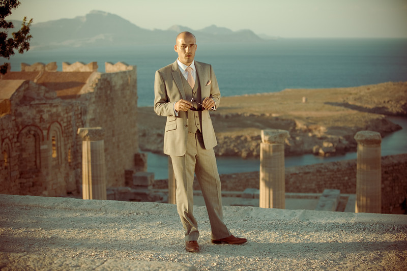 Jamie at the Akropolis<br /> Rhodes, Greece