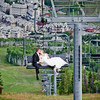 Allison & Michael's Beaver Creek Wedding...We had to take advantage of the ski lift. <br /> I love how this photo turned out!