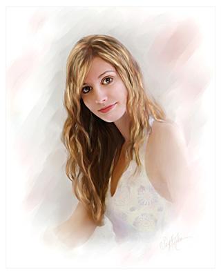 Sweet Sarah_painted 12x12